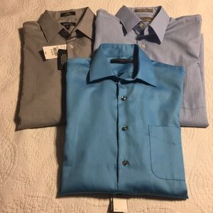 NWT Bundle of 3 fitted dress  shirts 15 32-33